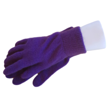 Possum Fur & Merino Wool Gloves - Purple