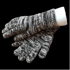 Pure Merino Wool Gloves - Black & White