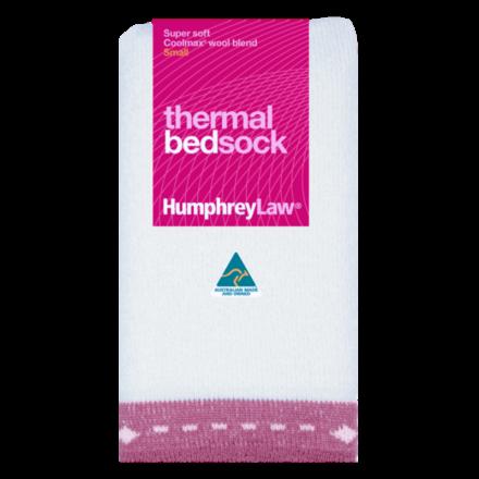 Thermal Bed Socks - Pink Trim, Small