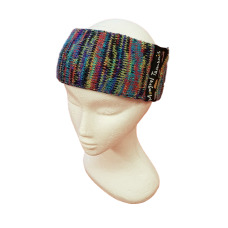 Pure Wool Head Warmer - Blues