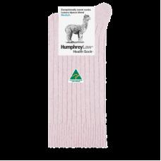 Alpaca Wool Blend Health Socks - Dusky Pink