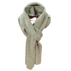 Pure Wool Long Scarf - Oatmeal