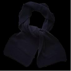 Merino Wool Long Scarf - Black