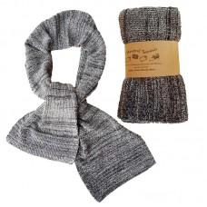 Pure Merino Wool Long Black & White Scarf