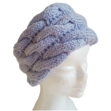 Pure Wool  Head or Neck Warmer - Cable Pattern
