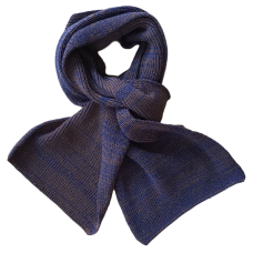 Pure Merino Wool Scarf - Blue & Taupe Fleck