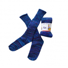Pure Wool Socks - Blue Multi Fleck