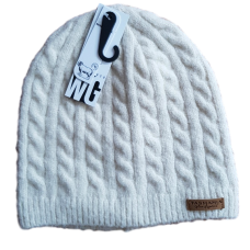 Combination Wool Blend Beanie - Cables