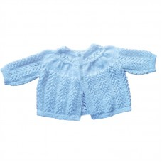 Handknitted Baby Jacket - White
