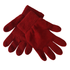 Possum Fur & Merino Wool Gloves - Red