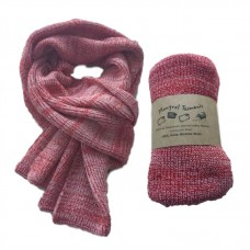 Pure Merino Wool Long Red Scarf