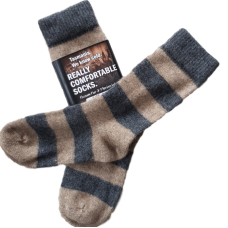 Possum Fur & Merino Wool Socks - Grey & Oatmeal