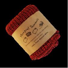 Pure Wool Neck Warmer - Burnt Orange & Black Fleck