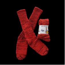 Pure Wool Socks - Orange Fleck