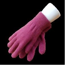 Possum Fur & Merino Wool Gloves - Pink