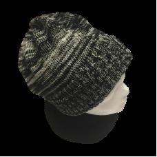 Tasmanian Pure Merino Wool Beanie - Black & White