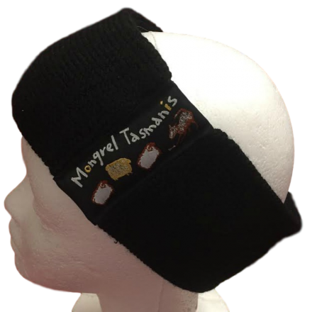 Pure Wool Head Warmer - Black