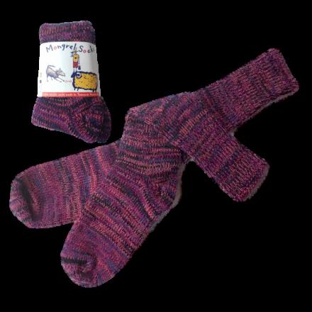 Pure Wool Socks - Multi Pinks