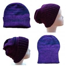 Tasmanian Pure Merino Wool Beanie - Purples