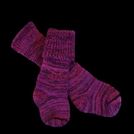 Kids Pure Wool Knit Socks - Purples