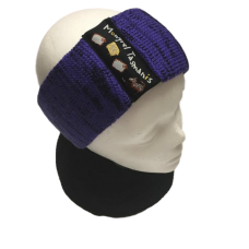 Pure Wool Head Warmer - Purples & Blues