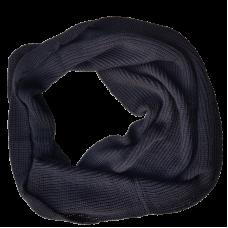 Merino Wool Black Cowl Scarf - Extra Wide