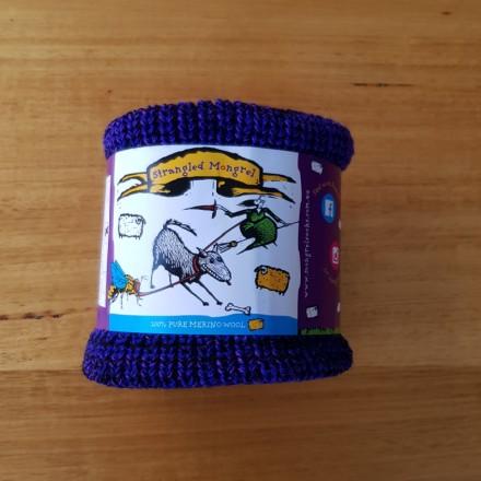 Pure Wool Neckwarmer - Purples