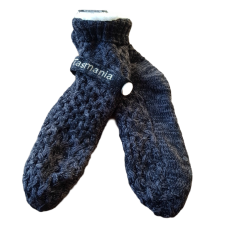House or Slipper Socks - Black & Grey Fleck, Tasmania