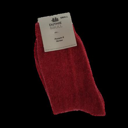 Womens Plain Possum & Merino Socks