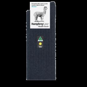 Alpaca Wool Blend Health Socks - Charcoal