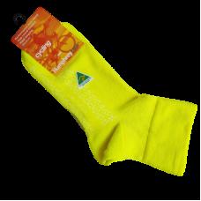 Australian Made Cycling Socks - Fluro Yellow