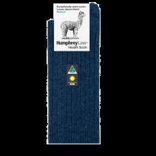 Alpaca Wool Blend Health Socks - Denim Blue