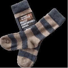 Possum Fur & Merino Wool Socks - Grey & Oatmeal