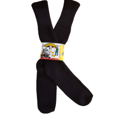 Pure Wool Plain Black Socks