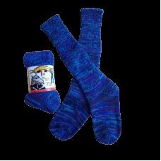 Pure Wool Socks - Blue Multi Fleck