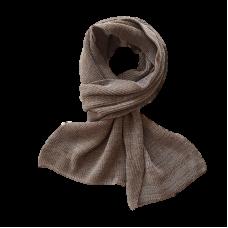 Pure Merino Wool Long Scarf - Taupe
