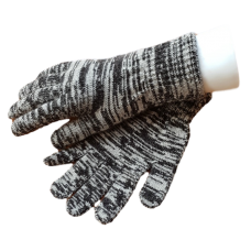 Pure Merino Wool Gloves - Black & White