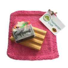 Huon Pine Gift Pack - Pink Washer