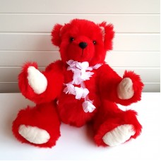 Red & White Teddy Bear