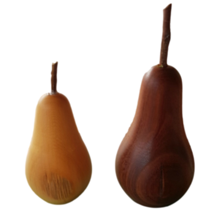 Tasmanian Timber Set of Two Pears
