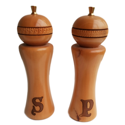 Huon Pine Salt & Pepper Mills - Small