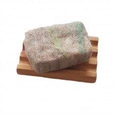Hand Felted Soap & Huon Pine Soap Holder - Beige & Green
