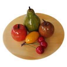 Huon Pine Platter with Wooden Fruit