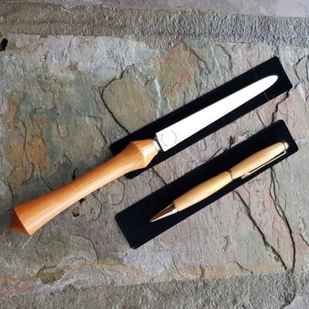 Huon Pine Letter Opener & Pen Set