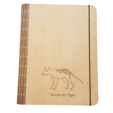 Huon Pine Tasmanian Tiger Notebook Cover