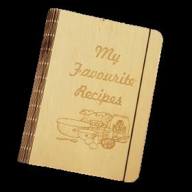 Huon Pine Veneer Recipe Book Cover