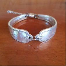 Recycled Spoon Bracelet - Silver Plated