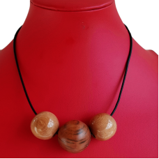 Myrtle Wooden Bead Necklace
