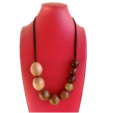 Tasmanian Timber Bead Necklace
