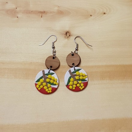Handcrafted Earrings - Wattle Design